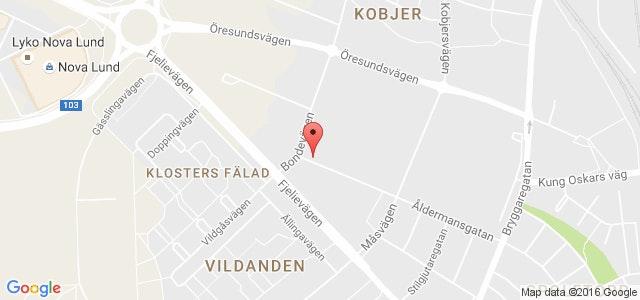 Vi finns på Åldermansgatan 10 i Lund